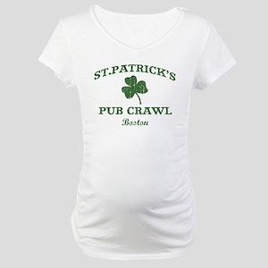 Boston pub crawl Maternity T-Shirt