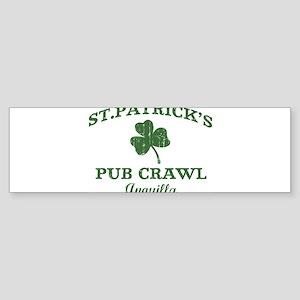 Anguilla pub crawl Bumper Sticker