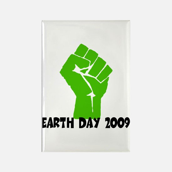 Earth Day green power Rectangle Magnet