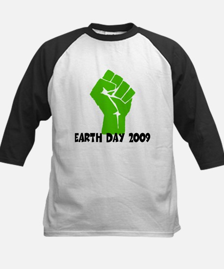 Earth Day green power Kids Baseball Jersey