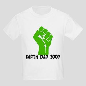 Earth Day green power Kids Light T-Shirt