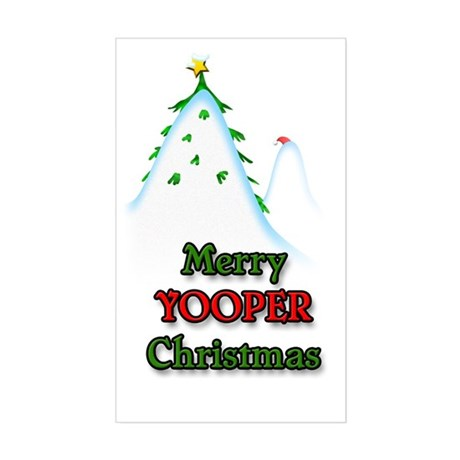 Merry Yooper Christmas Rectangle Sticker