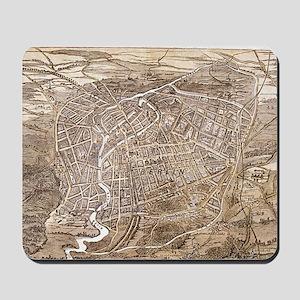Vintage Map of Berlin Germany (1870) Mousepad