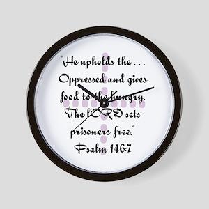 Ps146 : v 7 Jesus Wall Clock