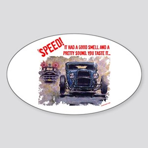 Speed! Oval Sticker