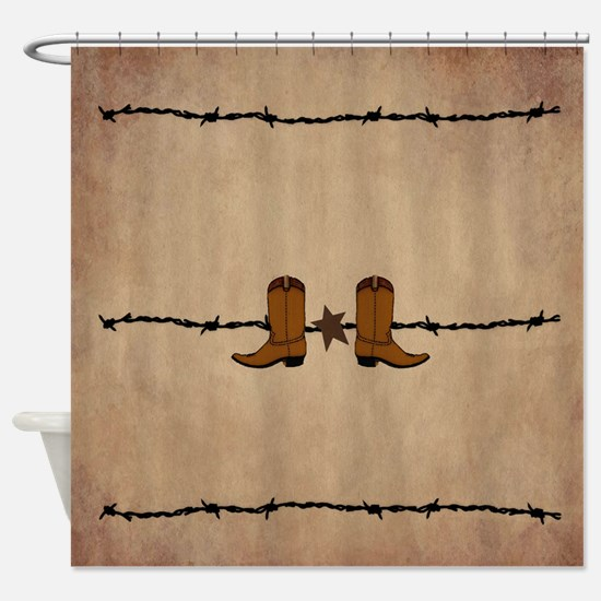 Cowboy Boots Shower Curtain