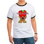 Teachers Apple Bear Ringer T T-Shirt