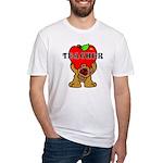 Teachers Apple Bear Fitted T-Shirt