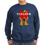 Teachers Apple Bear Sweatshirt (dark)