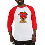 Teachers Apple Bear Baseball Jersey