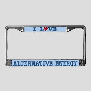 I Love Alternative Energy License Plate Frame
