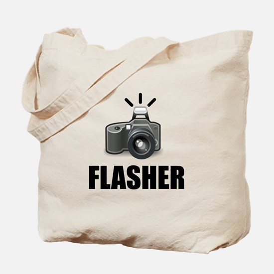 Flasher Camera Photographer Tote Bag