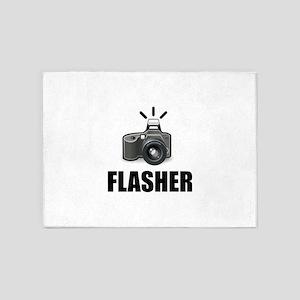 Flasher Camera Photographer 5'x7'Area Rug