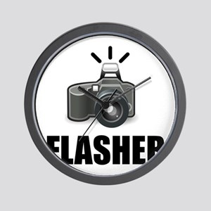 Flasher Camera Photographer Wall Clock