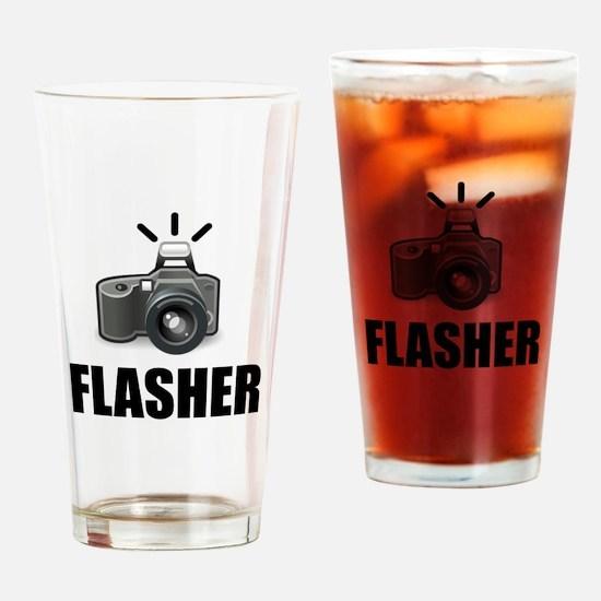 Flasher Camera Photographer Drinking Glass
