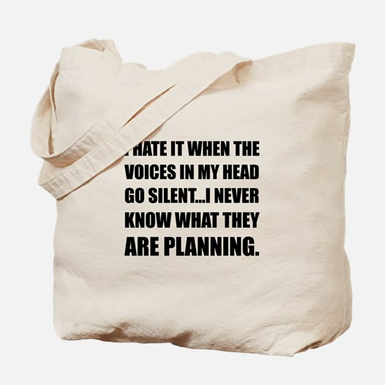 Voices Go Silent Planning Tote Bag