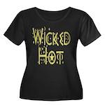 Wicked Hot Women's Plus Size Scoop Neck Dark T-Shi