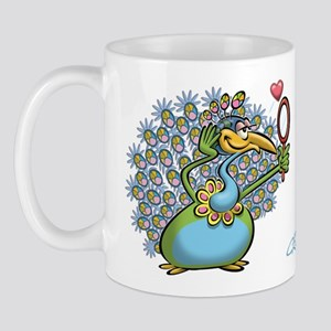 Pretty/Ugly Peacock Mug