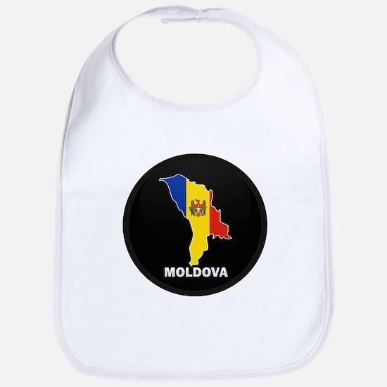 Flag Map of Moldova Bib