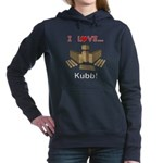 I Love Kubb Women's Hooded Sweatshirt