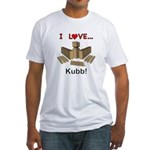 I Love Kubb Fitted T-Shirt