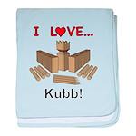 I Love Kubb baby blanket