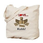 I Love Kubb Tote Bag