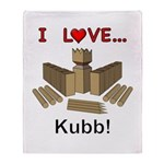 I Love Kubb Throw Blanket