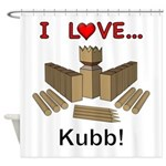 I Love Kubb Shower Curtain