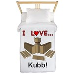 I Love Kubb Twin Duvet Cover