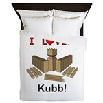 I Love Kubb Queen Duvet