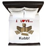 I Love Kubb King Duvet