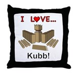 I Love Kubb Throw Pillow