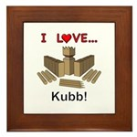 I Love Kubb Framed Tile