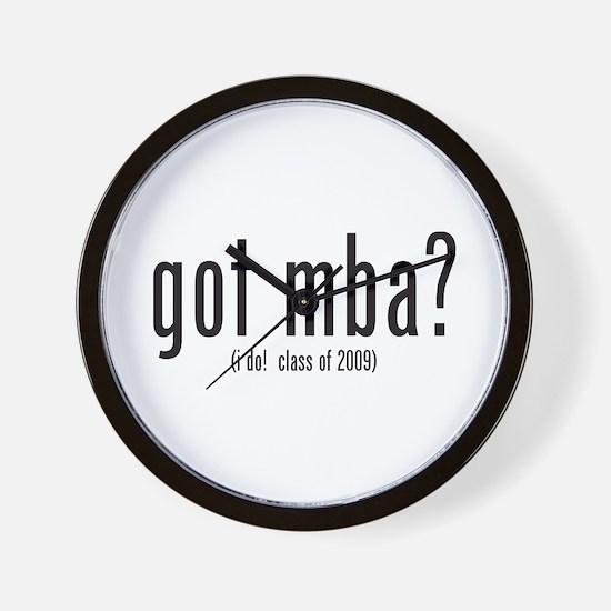 got mba? (i do! class of 2009) Wall Clock
