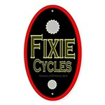 "Single speed cycles 5"" headtube Sticker (Oval"
