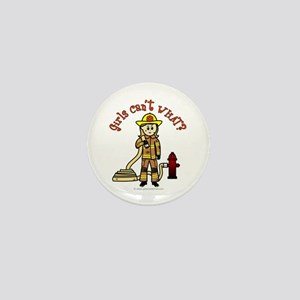 Blonde Firefighter Girl Mini Button