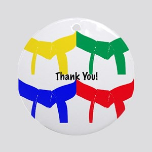 Martial Arts Thank You Ornament (Round)