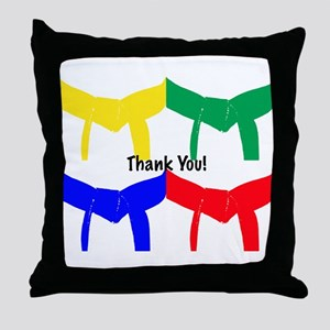 Martial Arts Thank You Throw Pillow