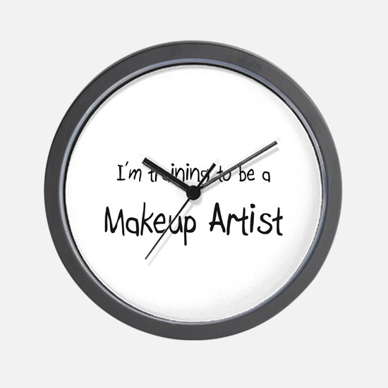I'm training to be a Makeup Artist Wall Clock