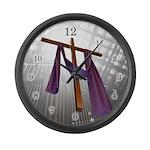 Floating Cross - Large Wall Clock