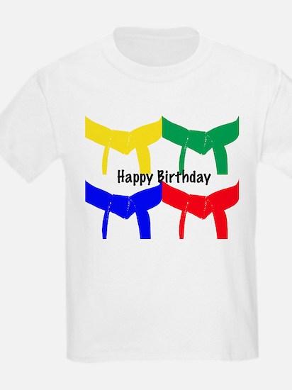 Martial Arts Happy Birthday T-Shirt