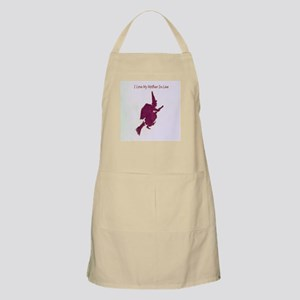I Love my mother-in-law Light Apron