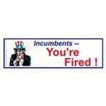 Incumbents You're Fired! (Bumper 50 pk)