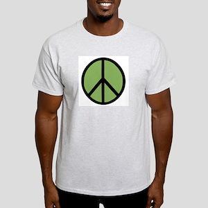 Peace (Green) Ash Grey T-Shirt