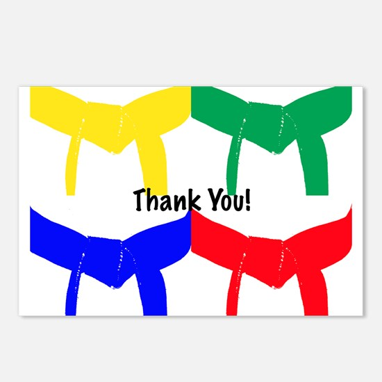Martial Arts Thank You Postcards (Package of 8)