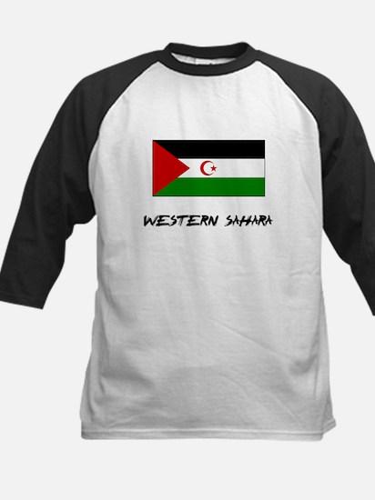 Western Sahara Flag Kids Baseball Jersey