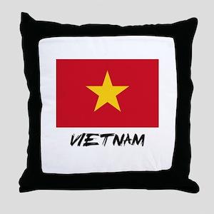 Vietnam Flag Throw Pillow
