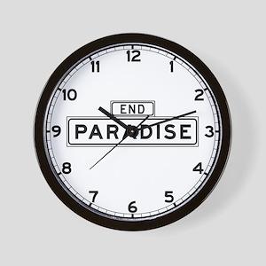 Paradise End, San Francisco Wall Clock