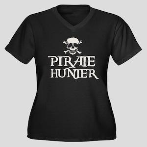 Pirate Hunter Women's Plus Size V-Neck Dark T-Shir